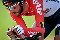 May 25, 2018 - Bornem, BELGIUM - Belgian Jelle Vanendert of Lotto Soudal pictured in action during the third stage of the Baloise Belgium Tour cycling race, a 10,6km individual time trial from Bornem to Bornem, Friday 25 May 2018. BELGA PHOTO DAVID STOCKMAN (Credit Image: © David Stockman/Belga via ZUMA Press)