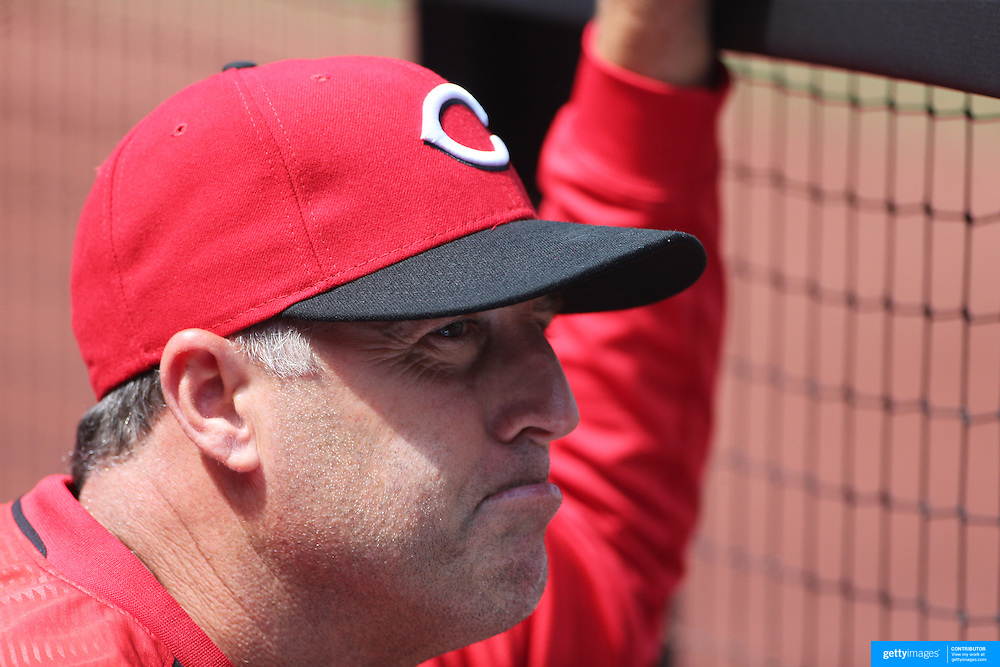 Cincinnati Reds manager Bryan Price during the New York Mets Vs Cincinnati Reds MLB regular season baseball game at Citi Field, Queens, New York. USA. 28th June 2015. Photo Tim Clayton
