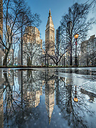 Madison Square Park is with the view of The Metropolitan Life Insurance Company Tower, Manhattan, New York City.