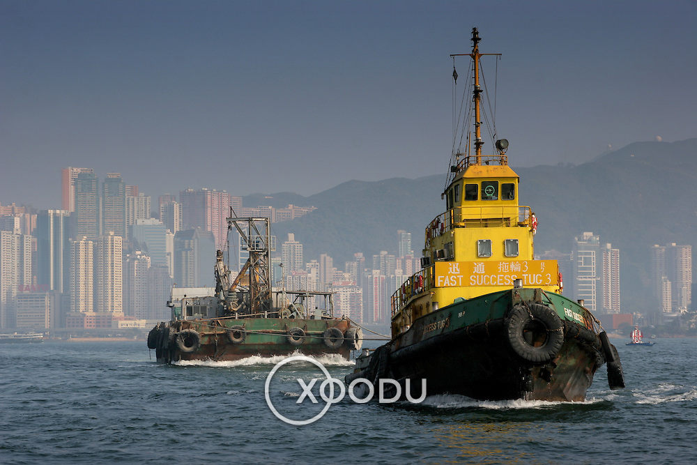 Fast success tug boat number 3, Hong Kong, China (January 2006)