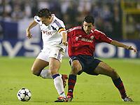 Fotball<br /> UEFA Champions League 2003/2004<br /> 30.09.2003<br /> Anderlecht v Bayern München<br /> NORWAY ONLY<br /> <br /> v.l.  Walter BASEGGIO , Roy MAKAAY  Bayern