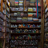 Africa, Morocco, Fes. Colorful bead shop in Fes.