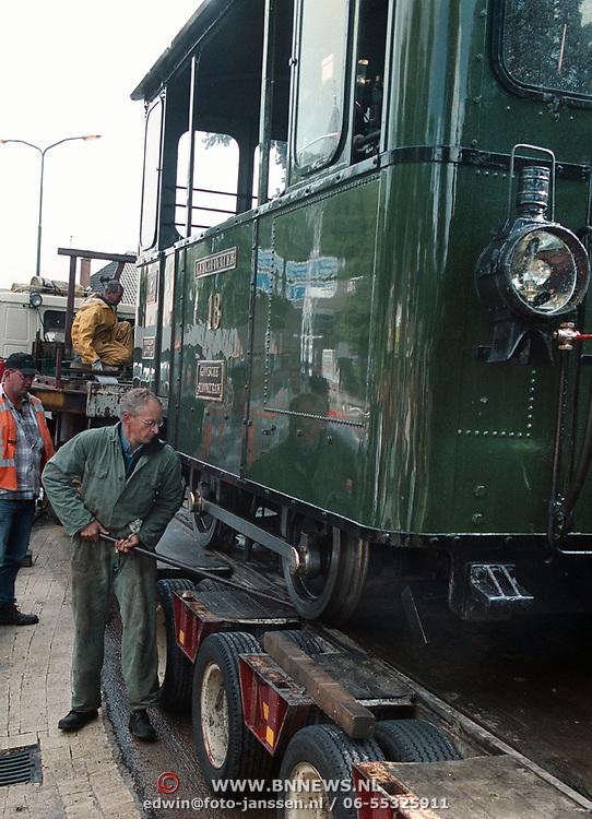 Aankomst Gooise Stoomtram, Moordenaar, op vrachtwagen