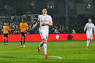 Jordan Hugill (11) of Middlesbrough looks dejected after shooting wide during the The FA Cup match between Newport County and Middlesbrough at Rodney Parade, Newport, Wales on 5 February 2019.