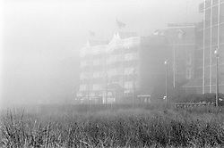 Heavy fog obscures hotels fronting the boardwalk in Rehoboth Beach, Del., Saturday, Aug. 17, 2019. (Photo by D. Ross Cameron)
