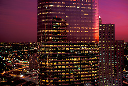 Stock photo of 1400 Smith at sunset in Allen Center Houston, Texas