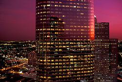 Stock photo of 1400 Smith at sunset in Allen Center Houston, Texas