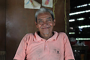 Justiniano Bol, Mopan Mayan cacao grower from San Antonio, sits at home. Toledo Cacao Growers' Association (TCGA), San Antonio, Toledo, Belize. January 25, 2013.