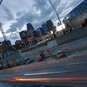 Construction underway on Two Light Tower in downtown Kansas City, Missouri.