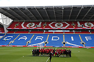The Wales squad and coaching team pose for a photograph ahead of the Wales football team training at the Cardiff city Stadium in Cardiff , South Wales on Friday 1st September 2017.  the team are preparing for their FIFA World Cup qualifier home to Austria tomorrow.  pic by Andrew Orchard, Andrew Orchard sports photography