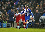 Brighton and Hove Albion Women's striker Amy Taylor during the FA Women's Premier League match between Brighton Ladies and Charlton Athletic WFC at the American Express Community Stadium, Brighton and Hove, England on 6 December 2015.