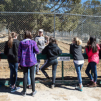 Students from Bosque School in Albuquerque on a tour Tuesday, March 5, during a visit to Wild Spirit Wolf Sanctuary in Candy Kitchen.