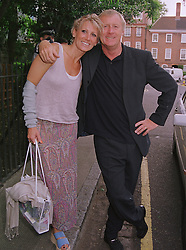 MR & MRS CHRIS TARRANT he is the radio/TV presenter, at a party in London on 30th June 1999.MTY 58