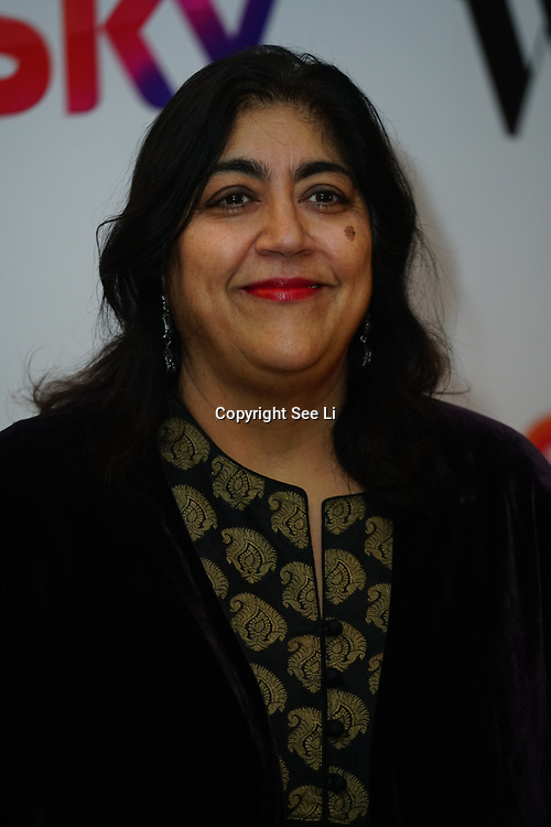 London Hilton, Park lane, England, UK. 1st December 2017. Gurinder Chadha attends the Sky Women in Film and TV Awards.