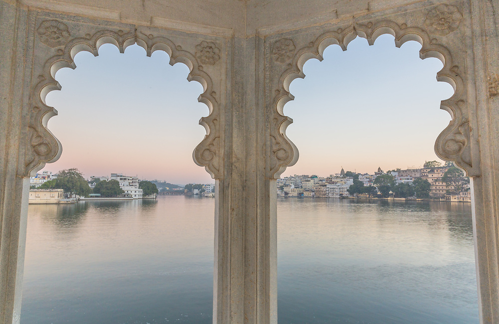 The short-lived silence of dawn was well worth an early morning walk on the grounds of the Lake Palace in Udaipur.