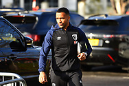 Callum Wilson (13) of AFC Bournemouth arriving at the Vitality Stadium before the Premier League match between Bournemouth and Arsenal at the Vitality Stadium, Bournemouth, England on 25 November 2018.
