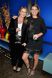 Left to right, ANYA HINDMARCH and NATALIE MASSENET at a dinner hosted by Anya Hindmarch and Dylan Jones to celebrate the end London Collections: Men 2014 held at Hakkasan, 8 Hanway Place, London on 8th January 2014.