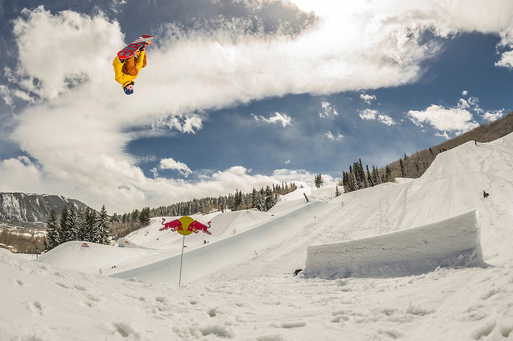 Seppe Smits performs at the RedBull Performance Camp in Aspen Colorado, United States on April 14th, 2013