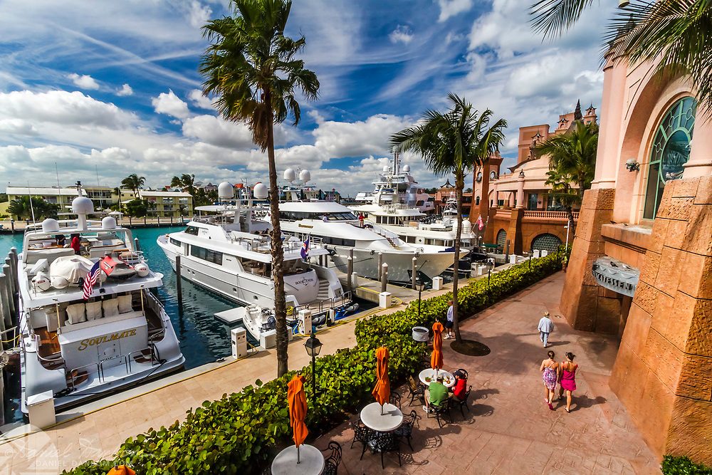 Yacht harbor at Atlantis Resort, Nassua,