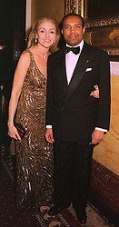 PRINCE & PRINCESS IDRIS OF LIBYA, at a party in London on 30th January 1999.MNP 46