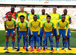 Mamelodi Sundowns team photo during the 1st leg of the MTN8 Semi Final between Chippa United and Mamelodi Sundowns held at the Nelson Mandela Bay Stadium in Port Elizabeth, South Africa on the 11th September 2016<br /><br />Photo by: Richard Huggard / Real Time Images
