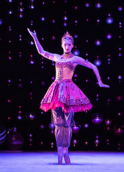 Scottish Ballet opens its tour of the festive ballet, The Nutcracker, in Edinburgh on 9 December until 30th January before it moves to  Glasgow, Aberdeen, Inverness and Newcastle.<br /> <br /> Pictured: Grace Horler in the Arabian Dance