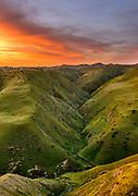 Panoche Hills Wilderness Study Area before Dawn, Fresno County, California