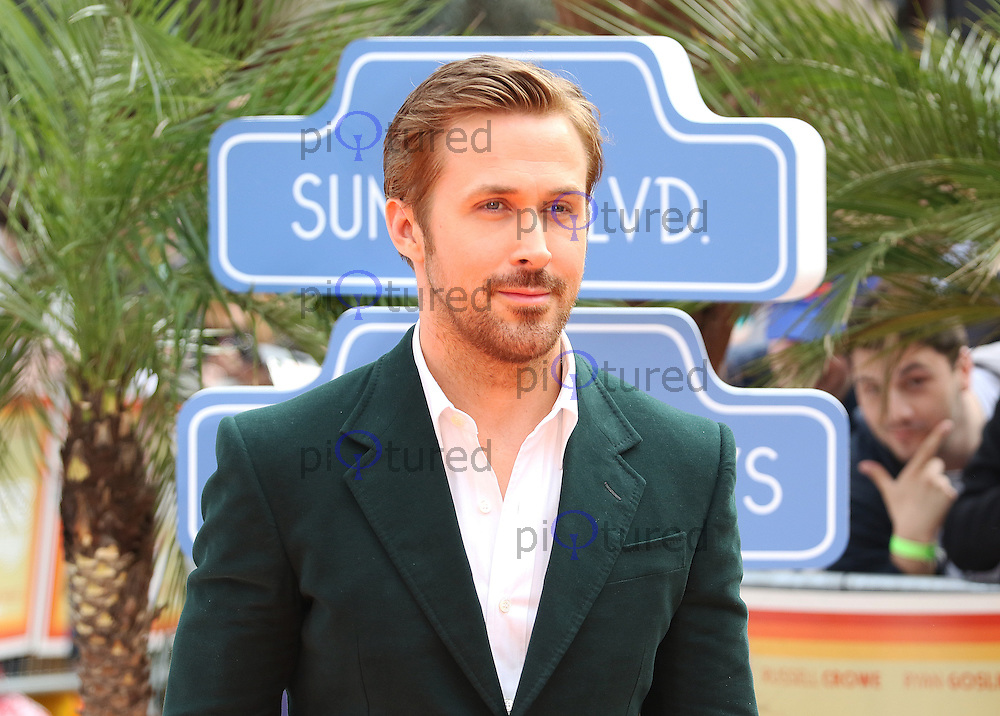 Ryan Gosling, The Nice Guys - UK film premiere, Leicester Square, London UK, 19 May 2016, Photo by Richard Goldschmidt