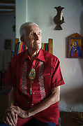 J. Paul Taylor is pictured in his home on August 3, 2020 in Mesilla, New Mexico. He would turn 100 on August 24.