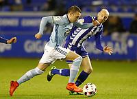 Deportivo Alaves' Gaizka Toquero (r) and Celta de Vigo's Iago Aspas during Spanish Kings Cup semifinal 2nd leg match. February 08,2017. (ALTERPHOTOS/Acero)