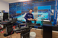One of the Technifibre Tennis Raquet stringers at the Nitto ATP World Tour Finals at the O2 Arena, London, United Kingdom on 13 November 2018.Photo by Martin Cole