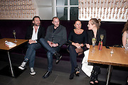 MAT COLLISHAW; JAMES SMALL; FRAN CUTLER; POLLY MORGAN, Esquire dinner celebrating being Brilliant, Young and British hosted by editor Jeremy Langmead at Aqua Nueva, Fifth Floor, 240 Regent Street , London 1 June 2010. -DO NOT ARCHIVE-© Copyright Photograph by Dafydd Jones. 248 Clapham Rd. London SW9 0PZ. Tel 0207 820 0771. www.dafjones.com.