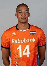 14-05-2018 NED: Team shoot Dutch volleyball team men, Arnhem<br /> Nimir Abdelaziz #14 of Netherlands