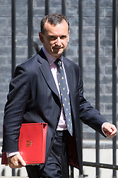 Downing Street, London, July 19th 2016. Welsh Secretary Alun Cairns leaves the first full cabinet meeting since Prime Minister Theresa May took office.