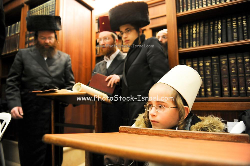Israel, Jerusalem, Religious Jews at a Yeshivah