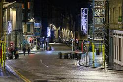 31DEC20 High Street, Edinburgh on Hogmanay.