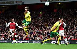 Alex Iwobi of Arsenal shoots at goal. - Mandatory by-line: Alex James/JMP - 24/10/2017 - FOOTBALL - Emirates Stadium - London, England - Arsenal v Norwich City - Carabao Cup