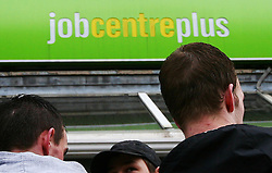 """Embargoed to 0900 Wednesday August 02 File photo dated 19/03/09 of a Job Centre Plus branch as progress in tackling youth unemployment has """"ground to a halt"""", with an increase in the numbers not in education, employment or training (NEET) for over a year, a report claims."""