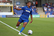 Wimbledon defender Tennai Watson  dribbling during the Pre-Season Friendly match between AFC Wimbledon and Queens Park Rangers at the Cherry Red Records Stadium, Kingston, England on 14 July 2018. Picture by Matthew Redman.