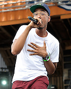 WASHINGTON, DC - August 11th, 2012 -  Rapper/producer Oddissee performs at the inaugural Trillectro Festival at the Half Street Fairgrounds in Washington, D.C. Before his performance, Oddissee gave a shout out to his grandmother, who lives right around the corner. (Photo by Kyle Gustafson/For The Washington Post)