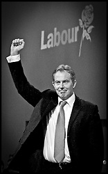 The Prime Minister  Tony Blair after  his speech at the LAbour Party Conference in Brighton.PRESS ASSOCIATION Photo. Photo Credit should read:Andrew Parsons/PA