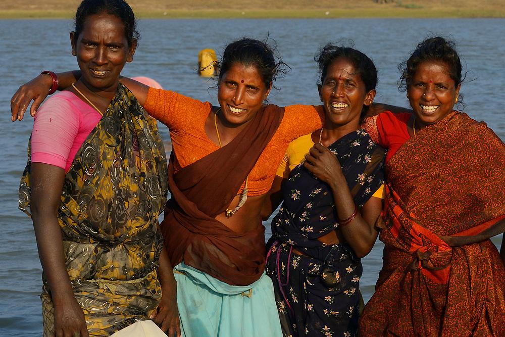 Fishing women, Pulicat Lake, Tamil Nadu, India