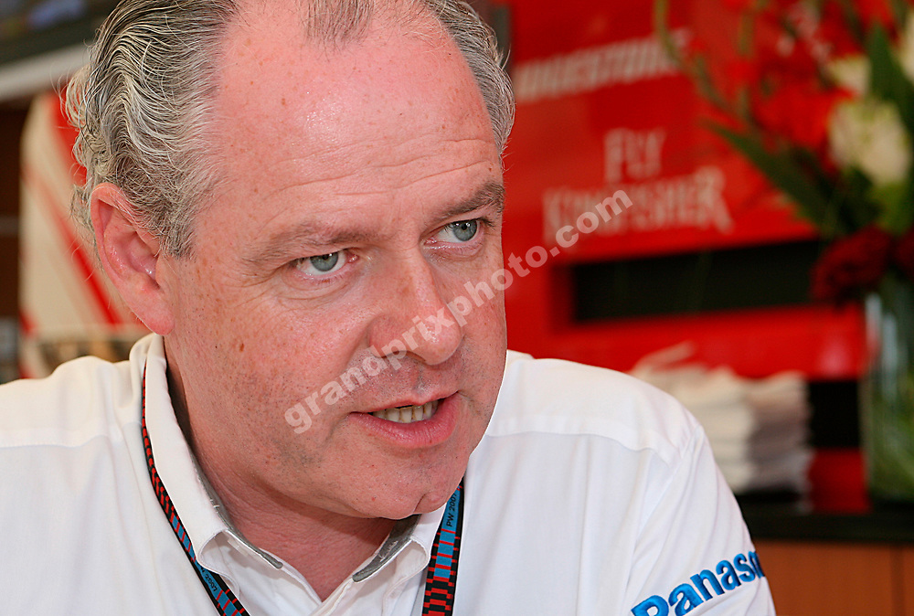 Toyota team manager Richard Cregan after practice for the 2007 European Grand Prix at the Nurburgring. Photo: Grand Prix Photo