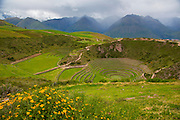 Circular Inca terraces of Moray,  Cusco Region, Urubamba Province, Machupicchu District, Peru