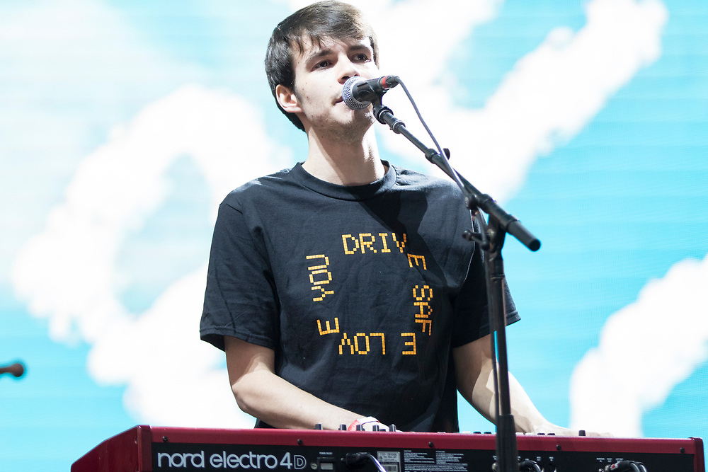 Rex Orange County performing at the Camp Flog Gnaw Carnival in Los Angeles, CA on November 10, 2018.