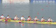 Chungju, South Korea.  Final Women's Eights W8+2013 FISA World Rowing Championships, Tangeum Lake International Regatta Course.16:32:02  Sunday  01/09/2013 [Mandatory Credit. Peter Spurrier/Intersport Images]<br /> <br /> 1USA w8+. Amanda POLK (b) , Kerry SIMMONDS (2) , Emily REGAN (3) , Lauren SCHMETTERLING (4) , Grace LUCZAK (5) , Meghan MUSNICKI (6) , Victoria OPITZ (7) , Caroline LIND (s) , Katelin SNYDER.