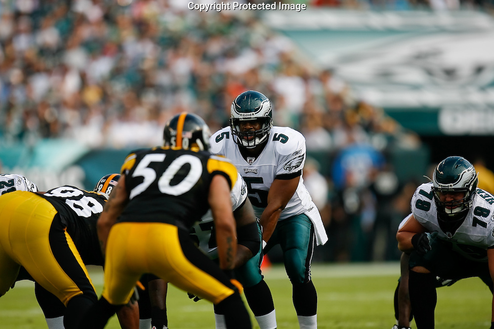 21 Sept 2008: Philadelphia Eagles quarterback Donovan McNabb #5 before a play during the game against the Pittsburgh Steelers on September 21st, 2008.  The Eagles won 15-6 at Lincoln Financial Field in Philadelphia Pennsylvania.