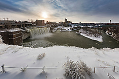 High Falls in Winter, Rochester, NY