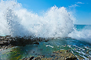 Waves Crashing On The Rocks At Victoria Beach