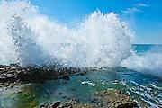 Waves Crashing On The Rocks At Victoria Beach